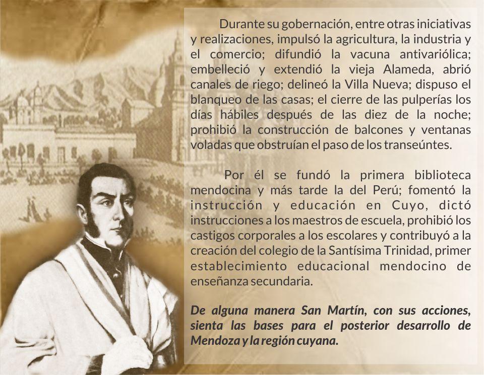 Obras de San Martín en Mendoza