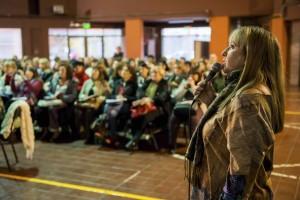 19-05-2016 Mendoza. Patricia Charamonte (Directora de Educación Primaria) en la presentación de líneas de acción de educación primaria a supervisores. Fotografía: Gobierno de Mendoza.