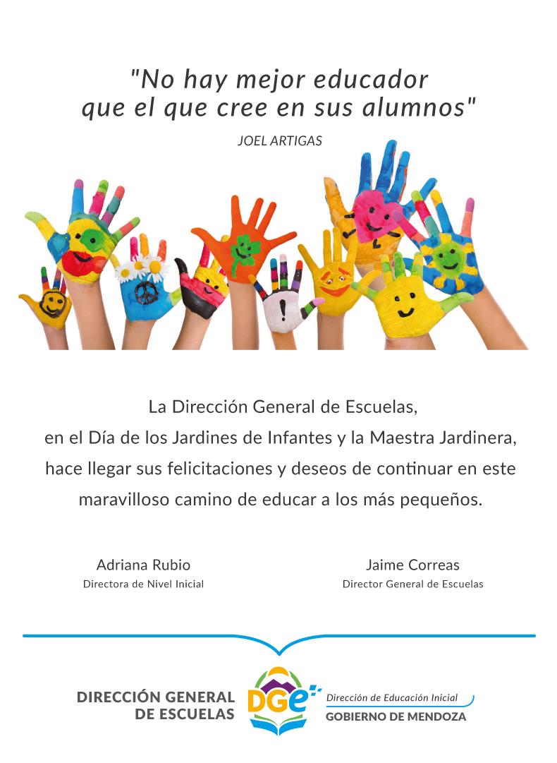 La dge saluda a jardines de infantes y maestras jardineras for Leccion jardin infantes 2016