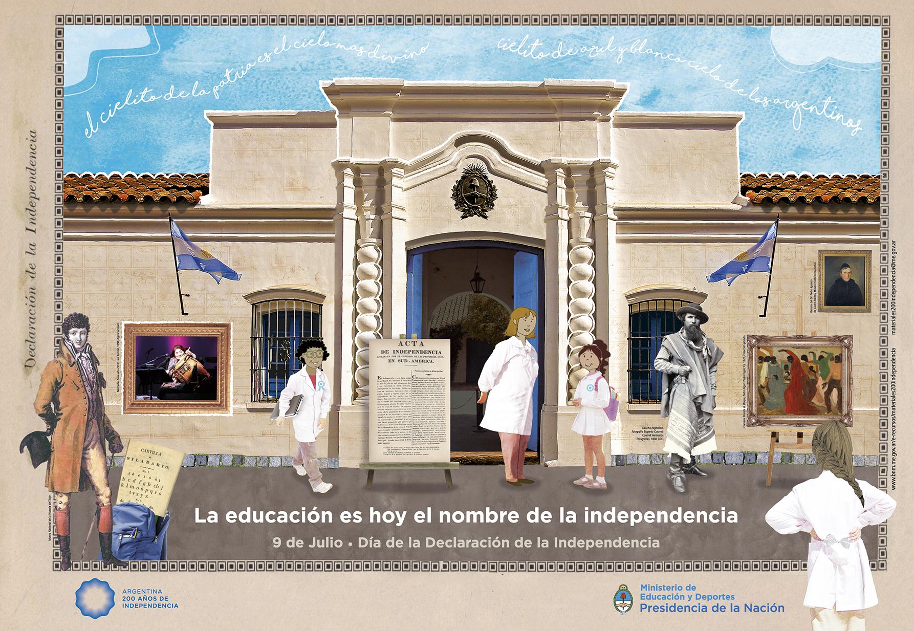 Con materiales educativos, la Nación conmemora el