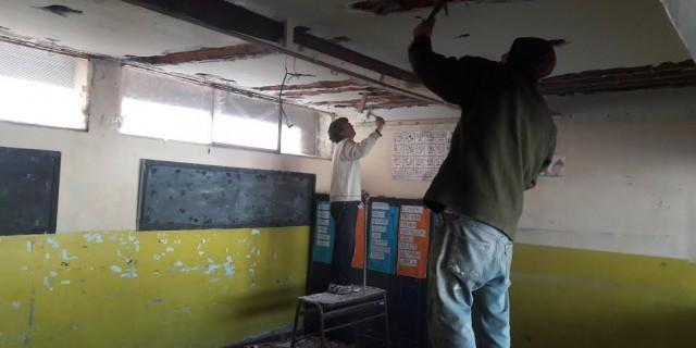 En la Escuela Fuerza Aérea finalizó la colocación de membrana en los techos