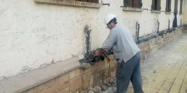 Escuela Eva Perón: comienza la instalación de las nuevas cañerías