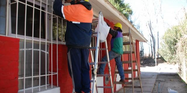 Reparan dos escuelas de Lavalle y una de Capital