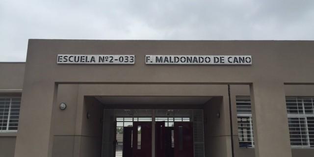 A fin de mes se inaugurará la escuela Fidela Maldonado de Cano