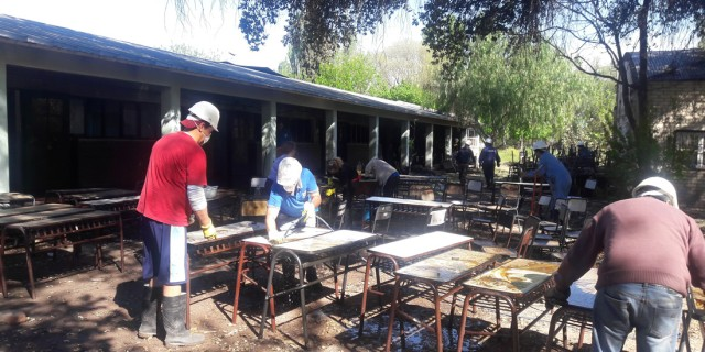 Repararán daños por un incendio en aulas de la Escuela Miguel Pouget