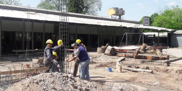Avanza a buen ritmo la ampliación y refacción de la escuela Laprida