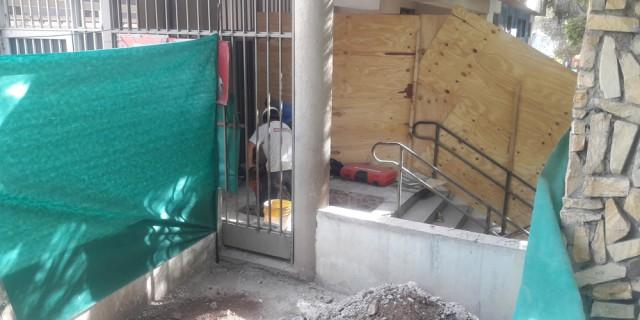 Repararán parte del sistema cloacal del jardín Granaderos de los Andes