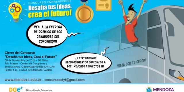 """Invitación a la entrega de premios del Concurso """"Desafiá tus ideas, creá el futuro"""""""