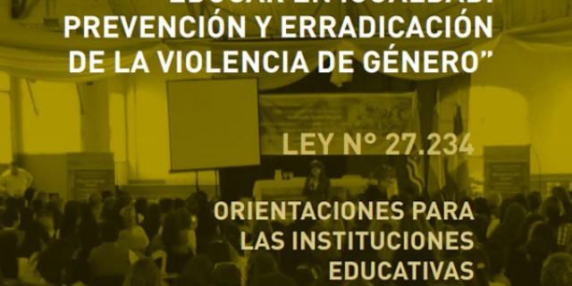 Las escuelas mendocinas reflexionarán sobre igualdad, prevención y erradicación de la violencia de género