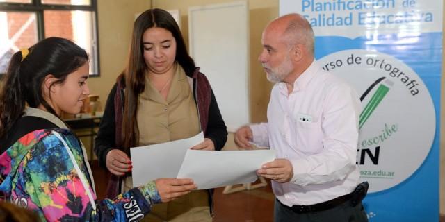 """Los ganadores departamentales de """"La Escuela Escribe Bien"""" compitieron en la instancia provincial"""