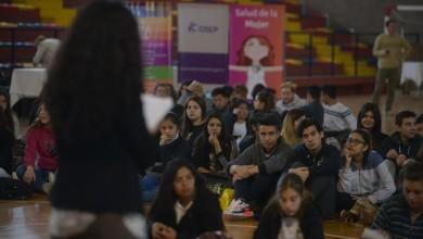 Mendoza 27-09-16 En el Estadio Cubierto Vicente Polimeni, calle Sáenz Peña y Roca, Las Heras. Se implementó acciones vinculadas al Embarazo adolescente y Prevención de la violencia de Género -  Encuentro con estudiantes de escuelas secundarias de la Provincia de Mendoza