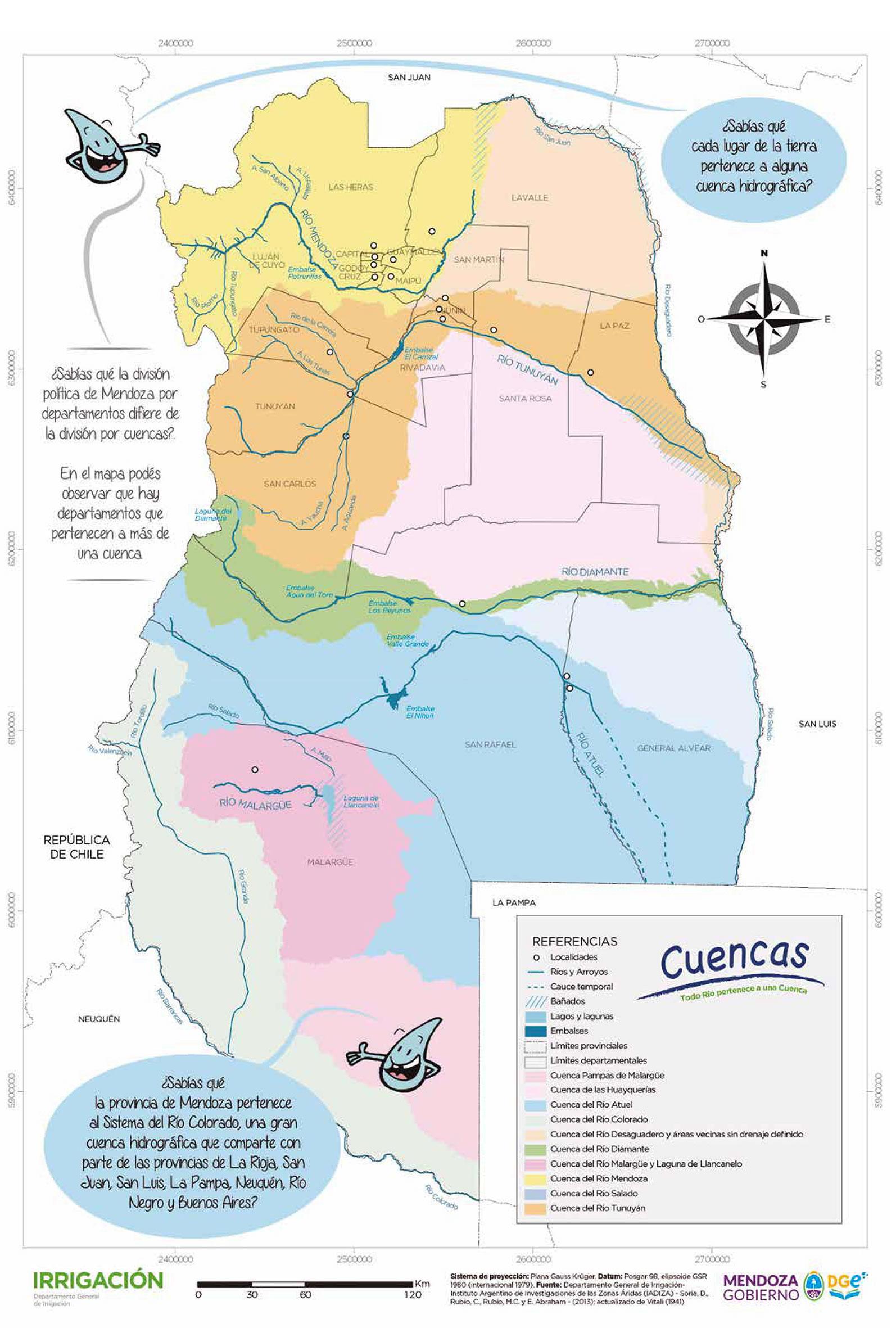 Mapas De Mendoza Y Sus Departamentos Www Mendoza Edu Ar
