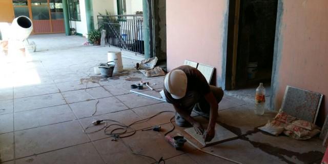 Comenzaron las reparaciones en la Escuela Carlos Vergara