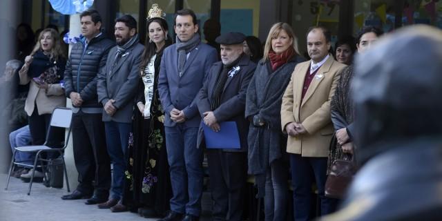 Jaime Correas tomó juramento de lealtad a la Bandera a alumnos secundarios