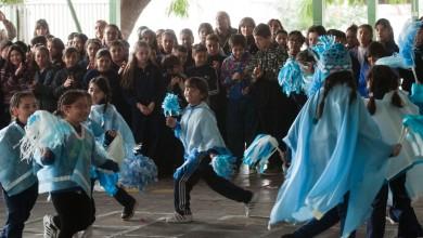 Día de la Independencia en la escuela 1-473 Pío XII.