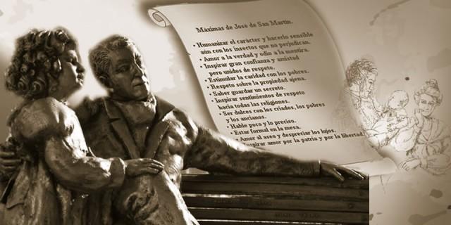 Honor a San Martín. Un buen padre