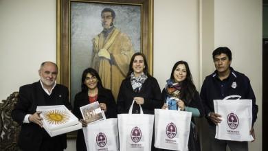 Mendoza 28-09-2017 / Agasajo a becarios de la Beca Fullbright por parte del Director General de Escuelas Jaime Correas. Viajaran a Estados Unidos.
