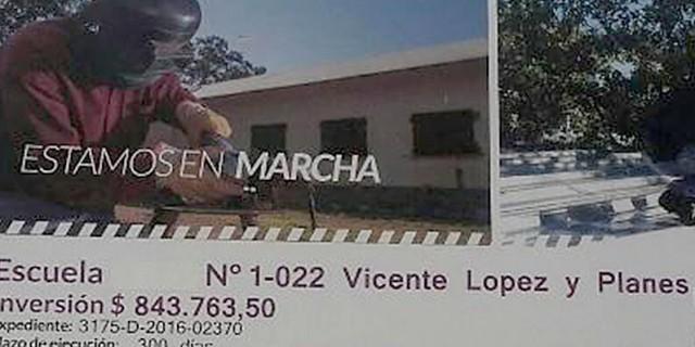 Las obras en la escuela Vicente López y Planes de Tunuyán ya están casi finalizadas