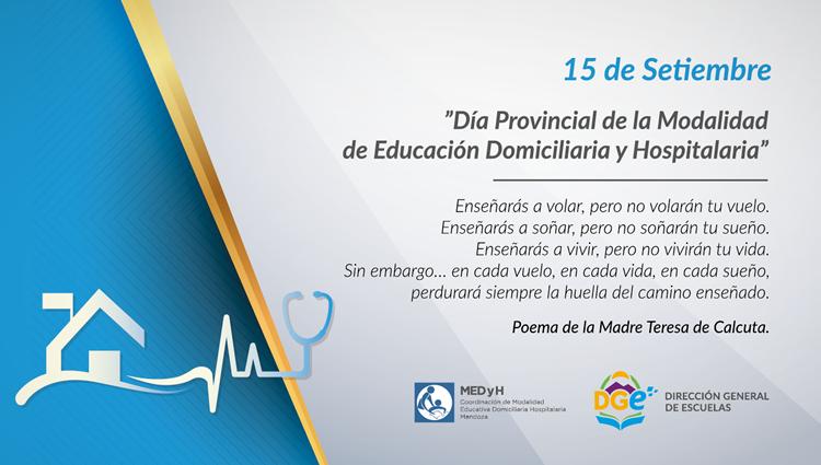 Resultado de imagen para Día Provincial de la Modalidad de Educación Domiciliaria y Hospitalaria