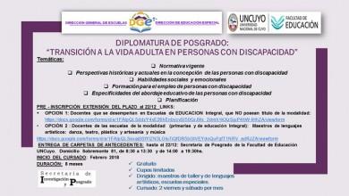 Diplomatura de posgrado extension inscripcion