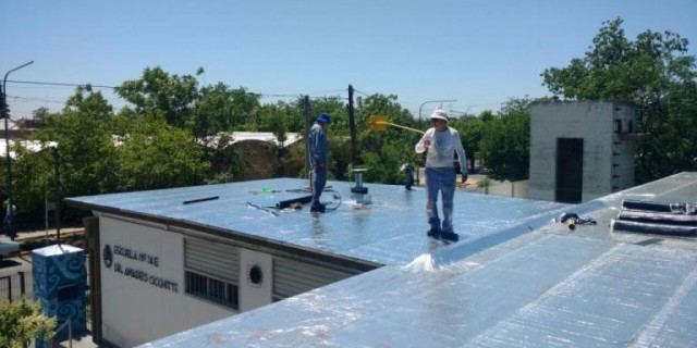 Infraestructura concluyó cinco reparaciones de techos en las escuelas