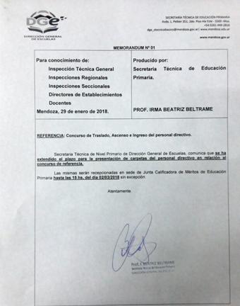 Memo Secretaria Técnica 30 Enero