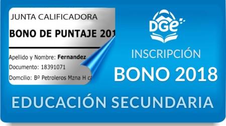 BONO SECUNDARIA_2018