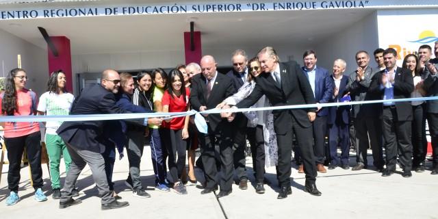"""Con el nuevo Centro Regional """"Dr. Enrique Gaviola"""" crece la educación superior en Mendoza"""