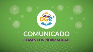 Placa COMUNICADO clases normalidad