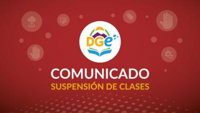 Placa COMUNICADO suspensión de clases