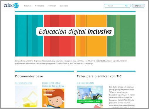 educacion digital inclusiva sitio