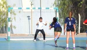 Mendoza 09-10-2018 En la Dirección de Deportes de la Universidad Nacional de Cuyo. Se  jugaron las finales de balonmano femenino.
