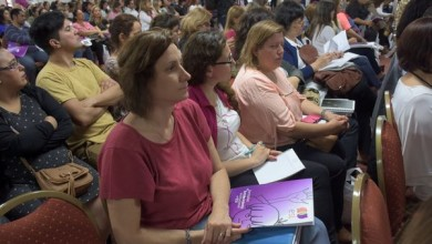 acto de apertura de las Jornadas de Fortalecimiento Institucional en Educación Sexual Integral.