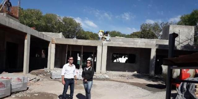 Avanza la construcción de la escuela Luis Morzone de Bowen