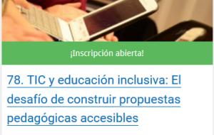 curso infod -tic y educacion inclusiva