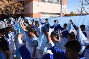 Acto en conmemoración de los 203 años de la Independencia Argentina