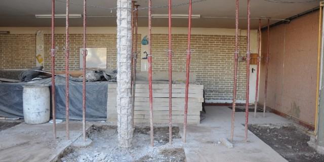 Está casi al 20% la reparación integral de la escuela Lucio Cicchitti