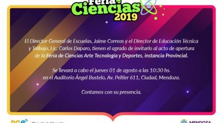 feria de ciencias- invitacion provincial 2019