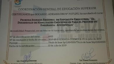 Certificado IES 9021