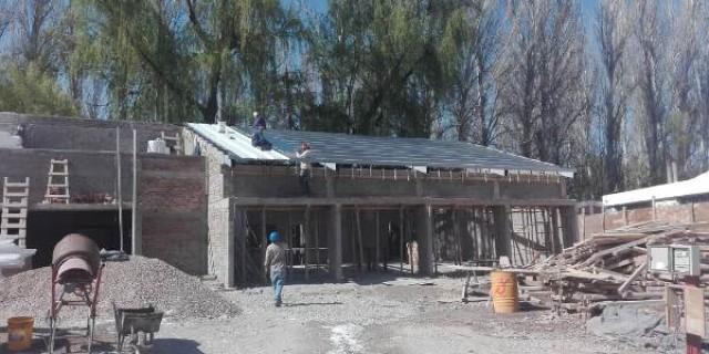 Está al 50% la construcción de la nueva Escuela Ventura Gallegos