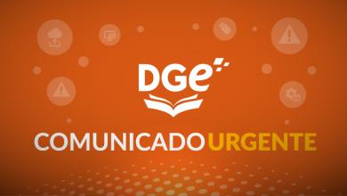 PLACA_COMUNICADO DGE URGENTE