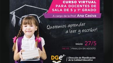 Placa curso dest Alfabetización