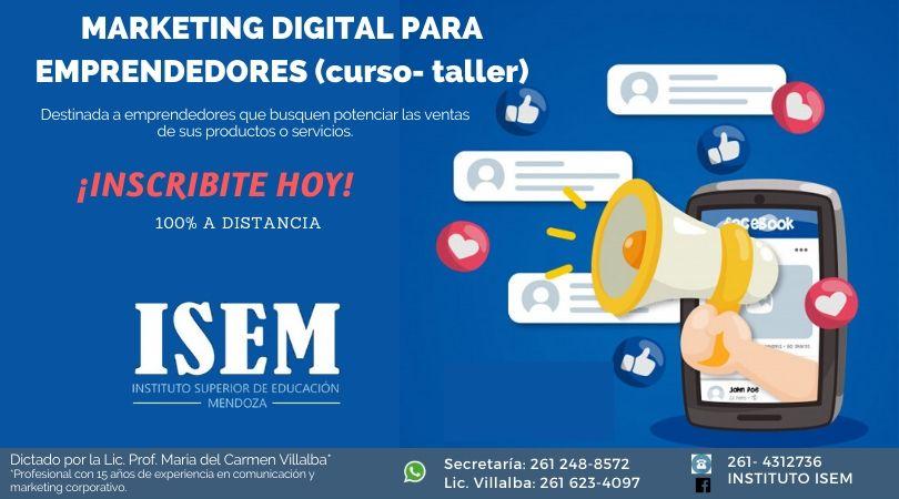 Taller Marketing Digital Emprendedores_ISEM